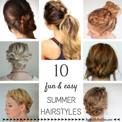 Terrific Fun Hairstyles For Summer Best Hairstyles 2017 Short Hairstyles Gunalazisus