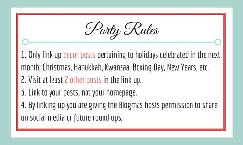 Blogmas Decor Party Rules