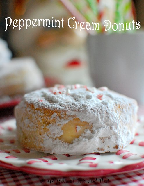 Peppermint Cream Donuts Poster