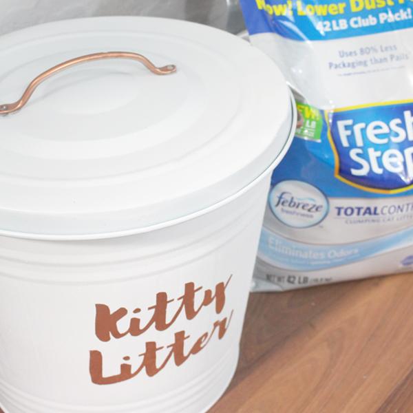 Chic Diy Kitty Litter Storage Inside The Fox Den