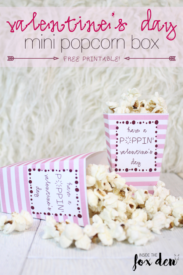 graphic relating to Popcorn Valentine Printable referred to as Cost-free Valentines Working day Popcorn Box Printable