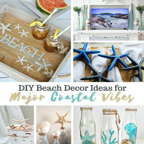 diy beach decor ideas for coastal vibes inside the fox den. Black Bedroom Furniture Sets. Home Design Ideas