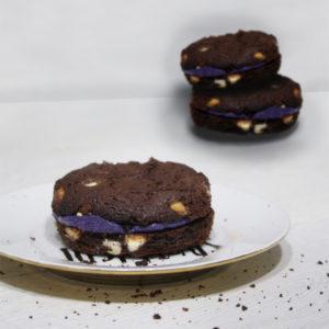 Dark Chocolate Cookie Sandwich | Halloween Dessert