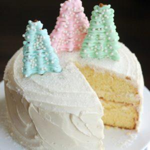 Pastel Winter Wonderland Cake