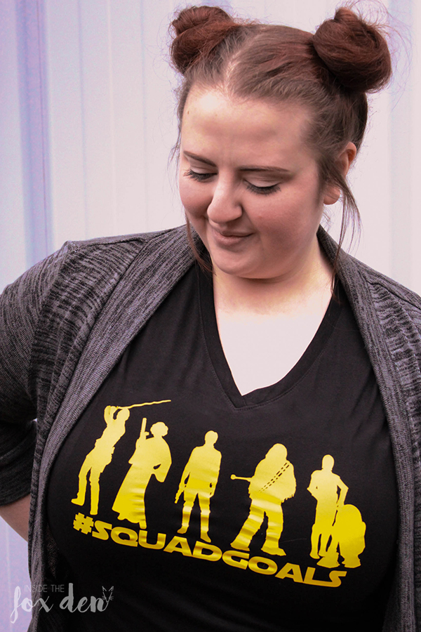 Who's gearing up for Star Wars day? Deck yourself out with these Star Wars #SquadGoals free cut files and make your own holiday shirt!