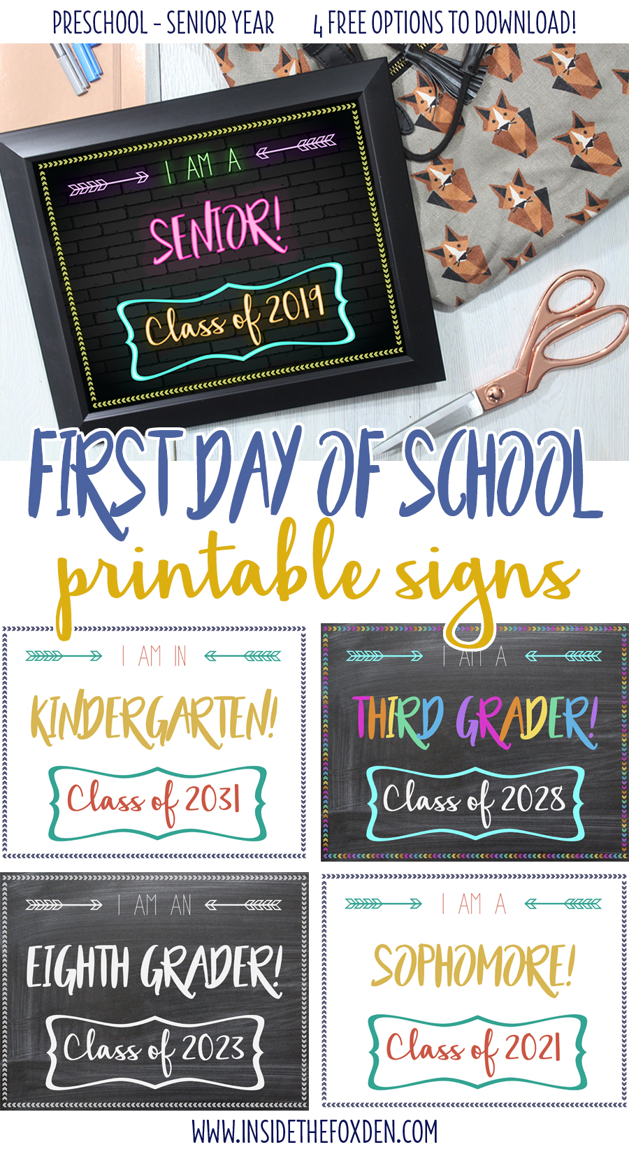 image about First Day of School Printable identify Cost-free Initially Working day of College or university Printable Indicators