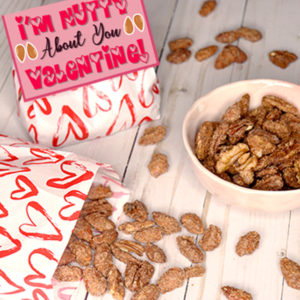 Candied Nuts Recipe with Printable Valentine