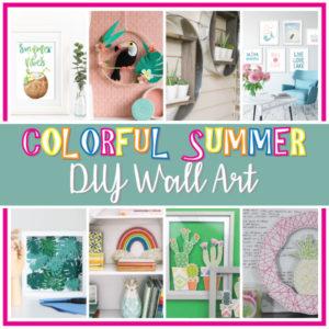 Colorful Summer DIY Wall Art